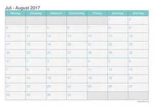 Kalender 2018 August Und September Kalender Juli August 2017 Zum Ausdrucken Ikalender Org