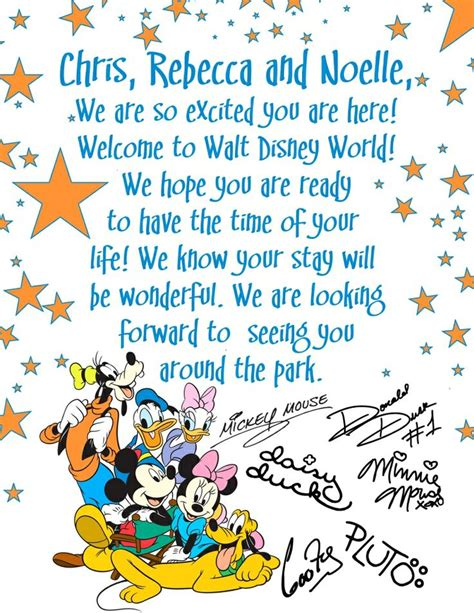 1000 Images About Disney World On Pinterest Disney Letter Template