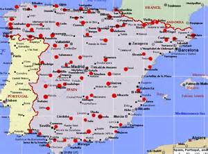 Spain Map With Cities by Map Of Spain Map Pictures
