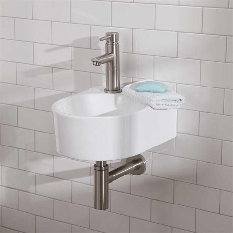 wall mount sink bathroom lacefield porcelain wall mount bathroom sink bathroom