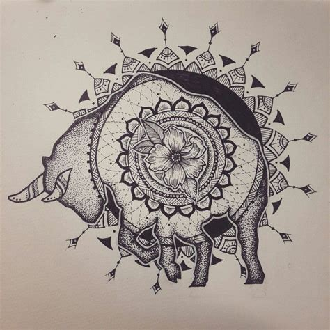 zodiac signs taurus tattoo designs taurus zodiac sign mandala dotwork by elenoosh