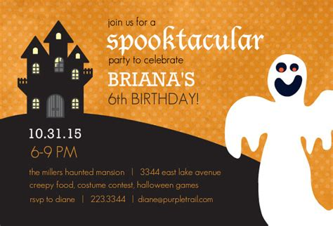 halloween birthday party invitation ideas bagvania free