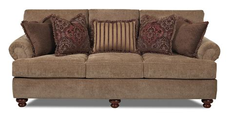 bun feet for sofa klaussner greenvale traditional stationary sofa with