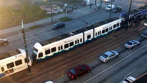 4 cars of central link light rail