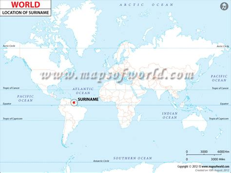 where is suriname on world map where is suriname location of suriname