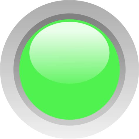 Led Circle Light by Led Light Green Led Circle Clip At Clker Vector