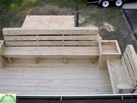Deck Planter Bench by Deck On Decks Cedar Deck And Planter Boxes
