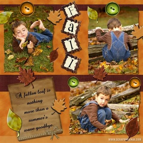 Scrapbook Max Digital Scrapbooking Software by Fall Layouts Archives Scrapbook Max