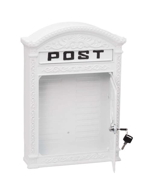 white wall mounted mailbox letter mailbox decorative vintage letter box wall mounted aluminium