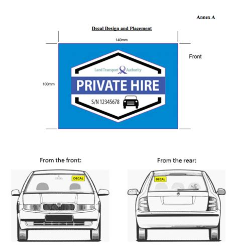 Privat Auto Mieten by Ter Evident Decal For Private Hire Cars Firstlane
