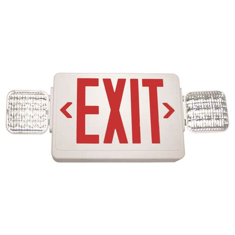 exit signs with emergency lights led exit sign emergency light white finish