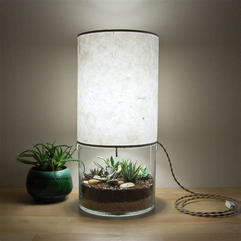Unique Lamps terrarium display table lamp the green head