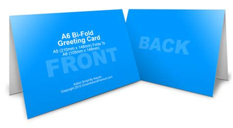 A6 Greeting Card Mockup Cover Actions Premium Mockup Psd Template Bi Fold Greeting Card Template