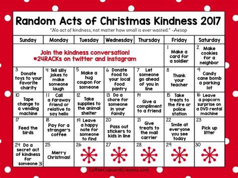 random acts of christmas kindness advent calendar coffee