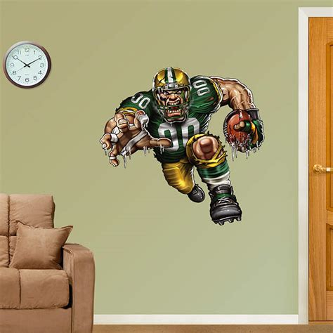 home decor green bay pumped packer wall decal shop fathead 174 for green bay