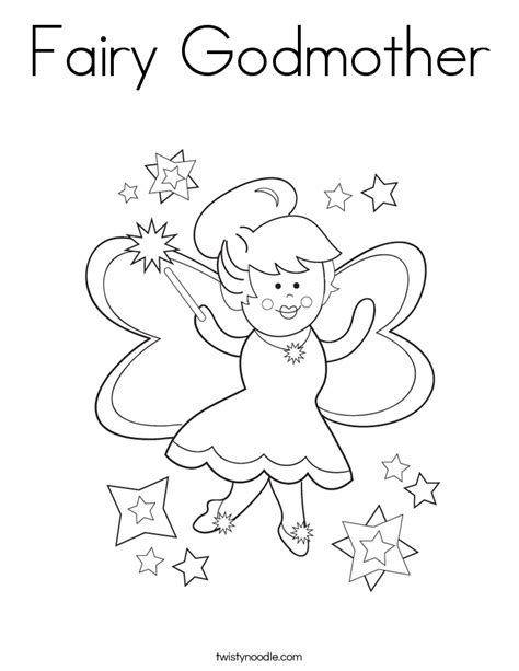 fairy godmother coloring page twisty noodle