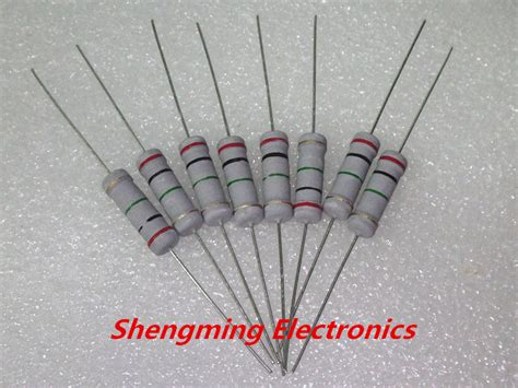 cost of 1k ohm resistor free shipping 200pcs 2w 1000 ohm 5 carbon resistor 1k ohms color ring resistor rohs jpg