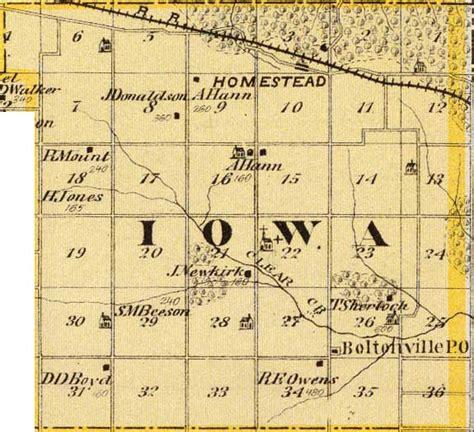 Records Iowa Iowa County Iagenweb Records Maps 1875 Andreas Atlas