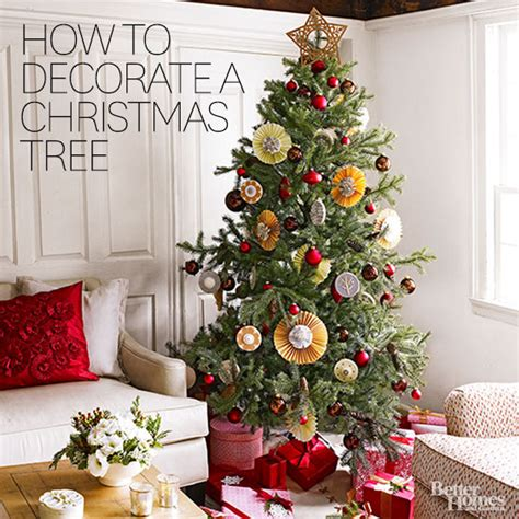 how to decorate home how to decorate a tree from better homes gardens