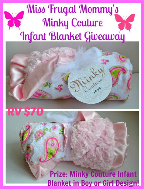 Blanket Giveaway - miss frugal mommy s minky couture infant blanket giveaway