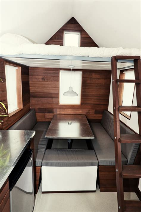tiny house dining table house of the week 150 square feet on wheels