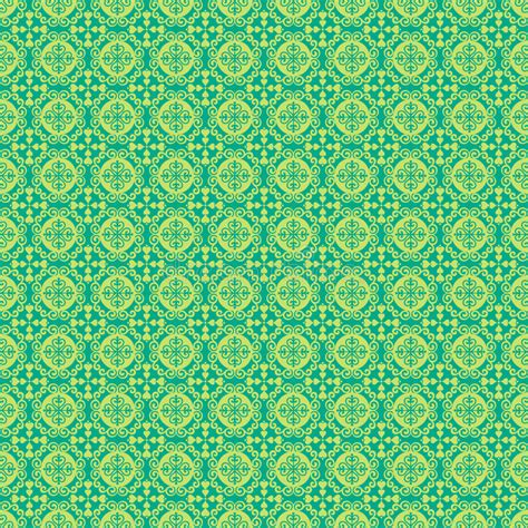 pattern blue green blue and green damask pattern background stock