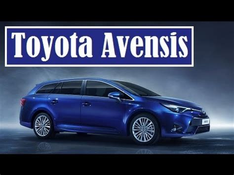 toyota avensis, facelifted sedan and wagon, their debut at