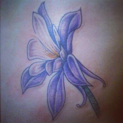 columbine flower tattoo columbine flower tat i like