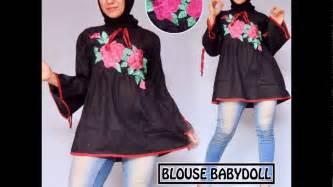 Ima Bordir atasan blouse babydoll blouse babydoll bahan katun ima