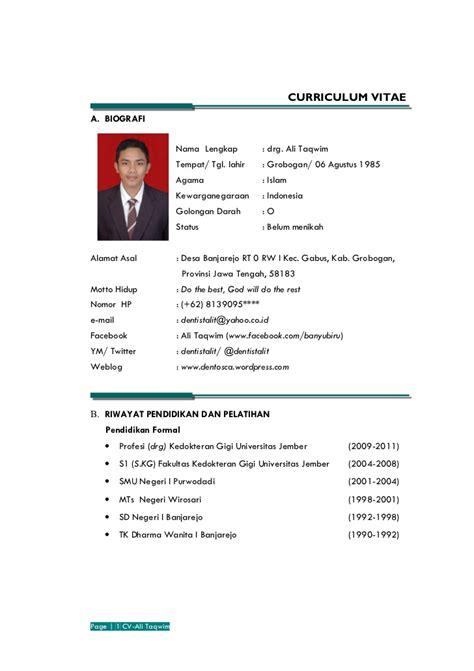 template cv menarik untuk fresh graduate 15 contoh curriculum vitae ben jobs