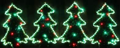 blinking tree lights animated 61cm high 4 led trees motif rope lights
