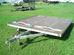 sled bed trailer 1997 sled bed 2 place open snowmobile trailer oc