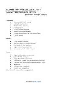 safety committee meeting template sle safety committee layout