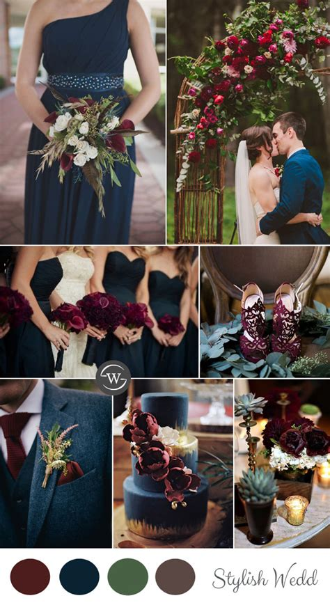 wedding colour themes navy wedding trends 10 fantastic burgundy color combos for