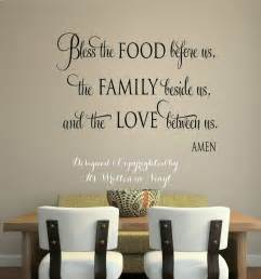 Words For The Wall Home Decor Quot Bless The Food Quot Vinyl Lettering Wall Decal Words Home