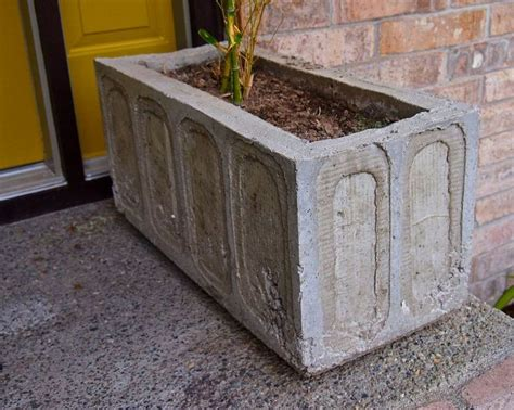 large concrete planter diy concrete planter