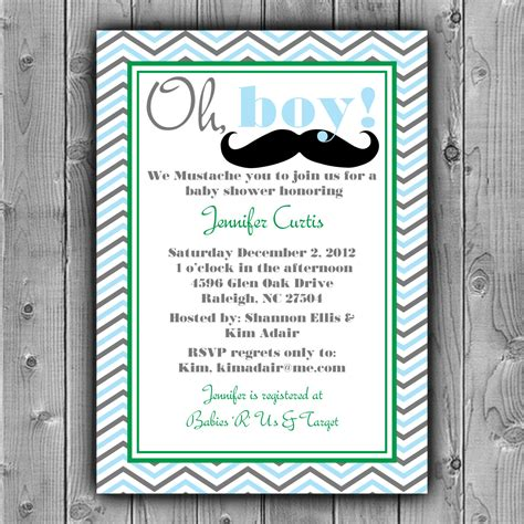 Mustache Baby Shower Invitations Templates Cimvitation Mustache Baby Shower Invitations Free Templates