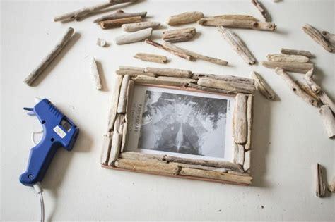 bilderrahmen mit kerzenhalter basteln mit treibholz diy deko mit erinnerungen an den