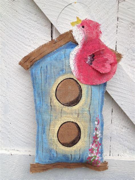 burlap door hanger 17 best images about burlap birds on