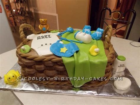 Coolest Baby Shower Cakes by Coolest Baby Shower Basket Cake