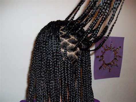 parting hair for box braids tweeny hair small box braids