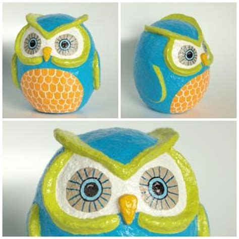 How To Make A Paper Mache Owl - papier mache owl inspiration papier mache
