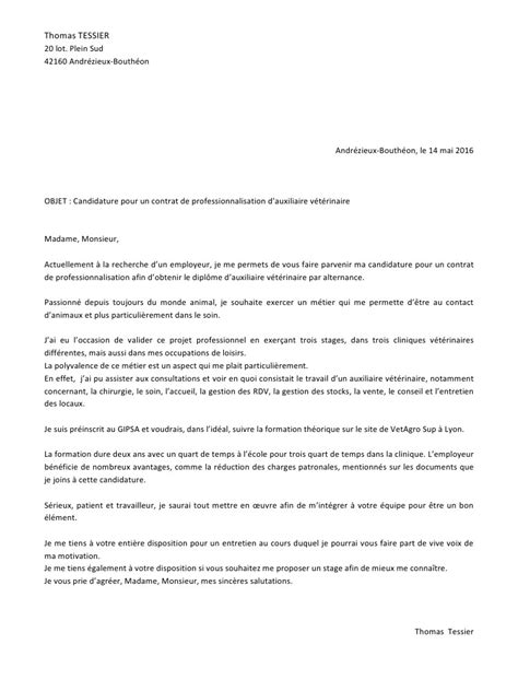 Modèle Lettre De Motivation Stage Pdf lettre de motivation contrat pro pdf par c 233 line robert