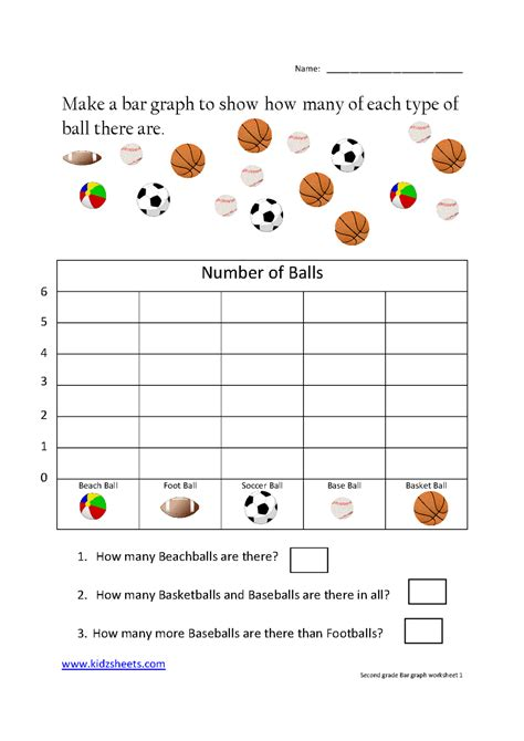 kidz worksheets second grade bar graph worksheet1