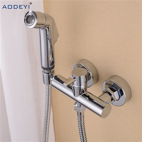 bidet brause free shipping solid brass chrome handheld bidet toilet