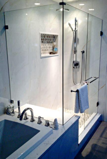 Frameless Shower Doors Vancouver 90 Degree Frameless Glass Shower Doors Greater Vancouver Shower Glass Modern Bathroom