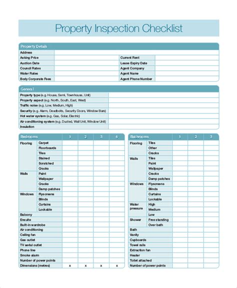 home inspection checklist pdf free