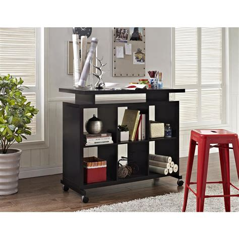 altra furniture lincoln espresso standing desk with