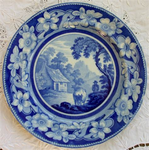 blue pattern pottery antique english georgian blue and white transfer quot the