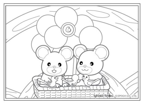 sylvanian family coloring page 37 best crafty sylvanian families coloring images on